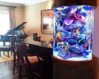 Морской аквариум в интерьере